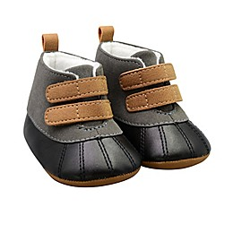 On the Goldbug™ Duck Faux Leather Boot in Black/Grey