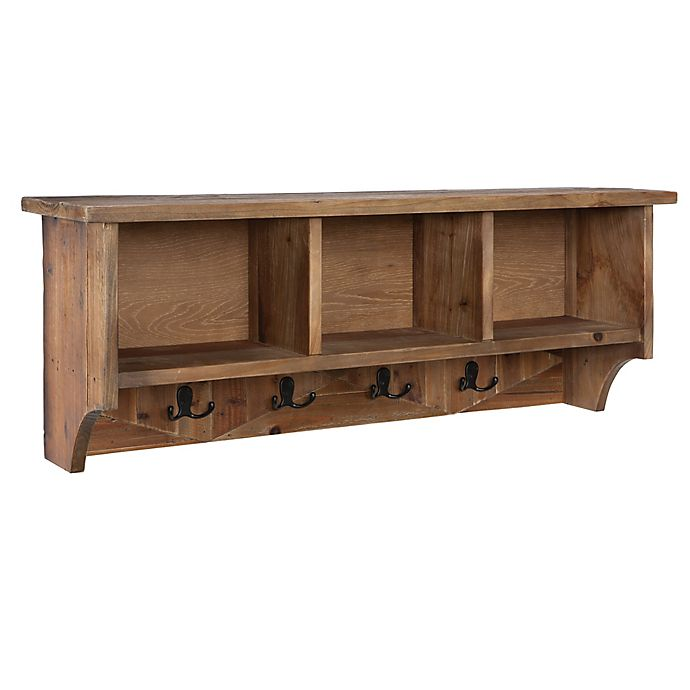 Alternate image 1 for Revive Reclaimed Coat Hooks with Storage in Natural