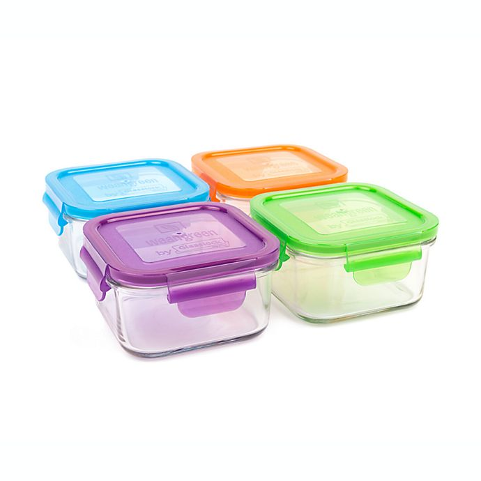 Alternate image 1 for Wean Green® 16 oz. Garden Pack Lunch Cubes in Assorted Colors (Set of 4)