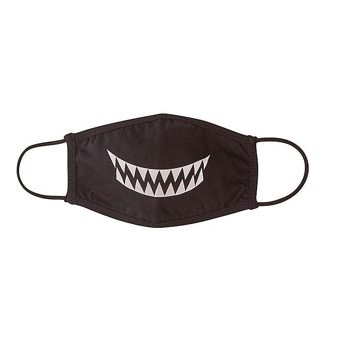 Alternate image 1 for London Luxury® 2-Pack Kids' Smile Fabric Face Masks in Black