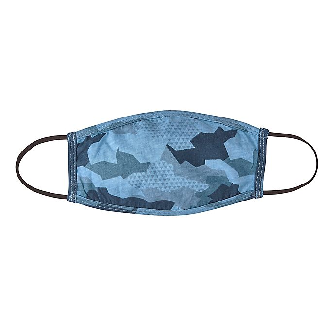 Alternate image 1 for London Luxury® 2-Pack Kid's Fabric Face Mask in Blue Camo