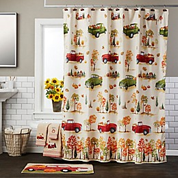 Harvest Delivery 70-Inch x 72-Inch Shower Curtain with Hooks