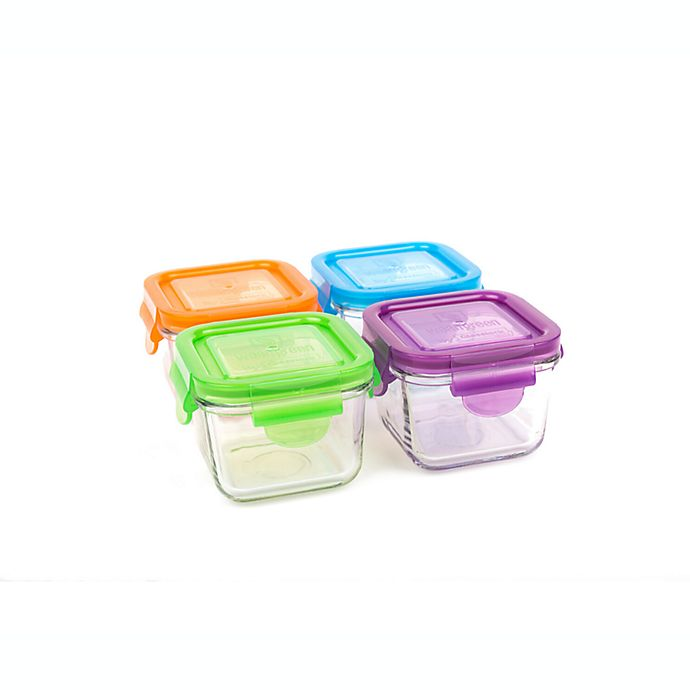 Alternate image 1 for Wean Green® 7 oz. Garden Pack Snack Cubes in Assorted Colors (Set of 4)