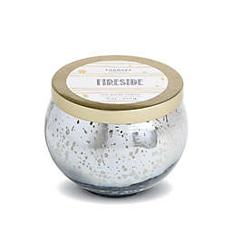 Foundry Candle Co. Fireside (Whiskey and Oak) 9 oz. Scented Mercury Glass Candle in Silver