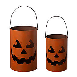 Glitzhome Metal Halloween Jack-O-Lantern Decoration
