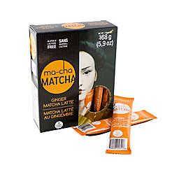 Ma-Cha Matcha Ginger Matcha Latte Tea Sachets 12-Count (Set of 6)