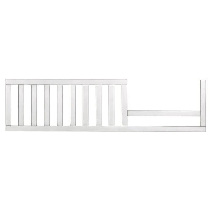 Alternate image 1 for évolur Glam Convertible Crib Toddler Guard Rail in Silver/Pearl