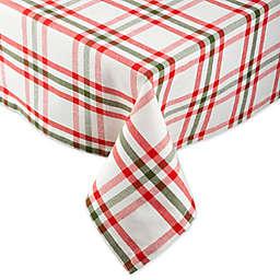 DII® Nutcracker Plaid Table Linen Collection