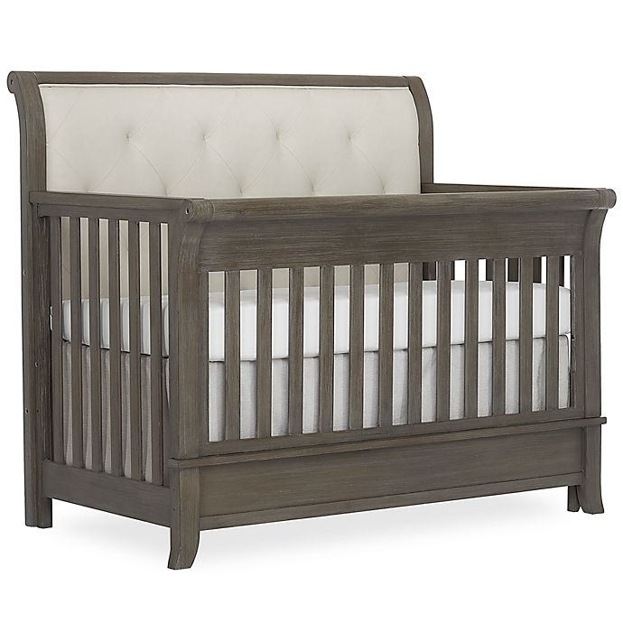 Alternate image 1 for évolur Amsterdam 4-in-1 Convertible Crib in Brushed Grey
