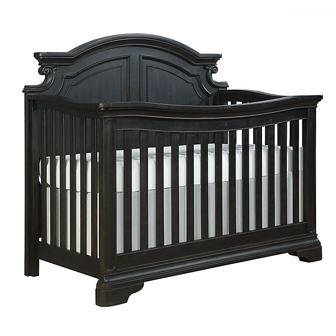 Alternate image 1 for Evolur Signature Belle 5-In-1 Convertible Crib in Dark Chocolate