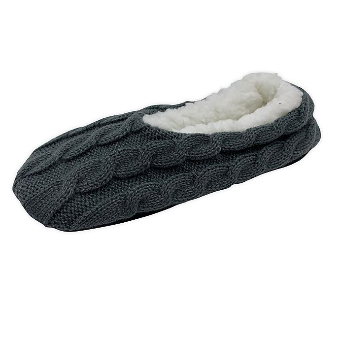 Alternate image 1 for Bee & Willow™ Home Cable Sherpa Lined Slippers