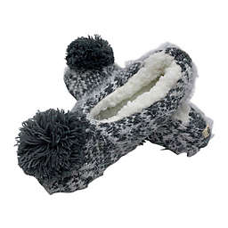 Bee & Willow™ Home Hairy Fairisle Slippers with Pom Pom