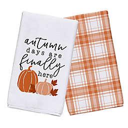 Autumn Days are Finally Here Tea Towel Set