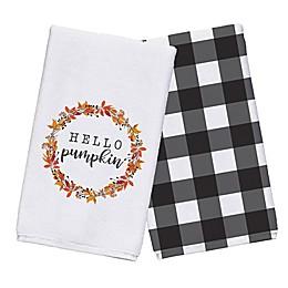 Hello Pumpkin Tea Towel Set