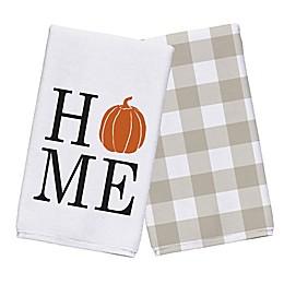 Home Pumpkin Tea Towel Set