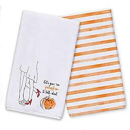 Give Em Pumpkin to Talk About Tea Towel Set