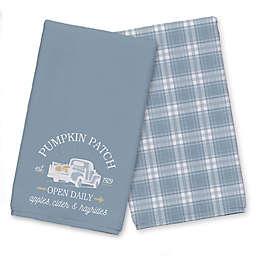 Blue Pumpkin Patch Truck Tea Towel Set