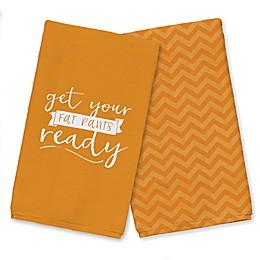 Fat Pants Orange Tea Towel Set
