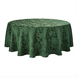 Holiday Medley 90-Inch Round Tablecloth in Green