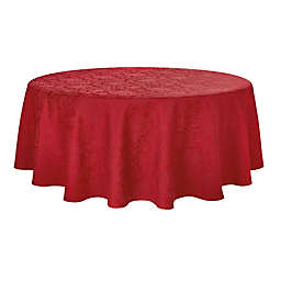 Holiday Medley 90-Inch Round Tablecloth in Red
