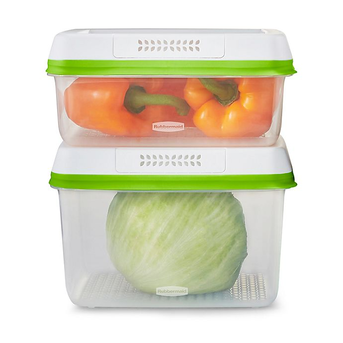 Alternate image 1 for Rubbermaid® Freshworks™ 2-Piece Produce Saver Set in Clear