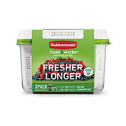 Rubbermaid® Freshworks™ 3-Piece Produce Saver Set in Clear