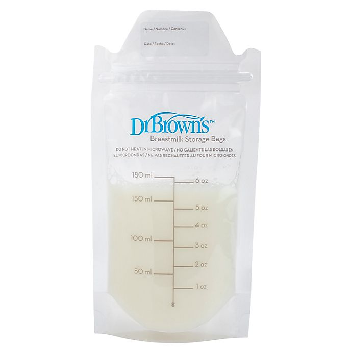 Alternate image 1 for Dr. Brown's® 100-Count Breastmilk Storage Bags