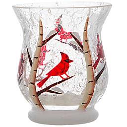 Birch Cardinal Votive Candle Holder