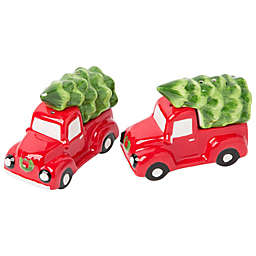 Home Essentials & Beyond Christmas Tree Pickup Truck Salt and Pepper Shakers