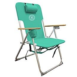 Carribean Joe High Weight Beach Chair in Teal