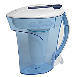 ZeroWater® 10-Cup Ready Pour™ Pitcher with Free Water Quality in Blue