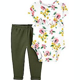 carter's® 2-Piece Floral Bodysuit and Pant Set