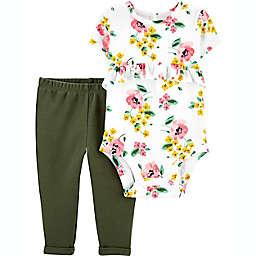carter's® Newborn 2-Piece Floral Bodysuit and Pant Set