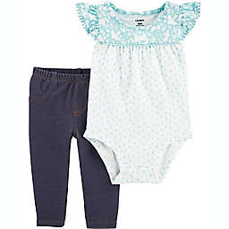 carter's® 2-Piece Crocheted Bodysuit and Pant Set