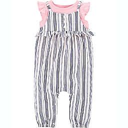 carter's® 2-Piece Shirt and Striped Jumpsuit Set