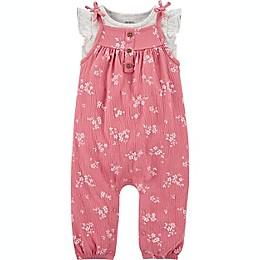 carter's® 2-Piece Floral Shirt and Jumpsuit Set