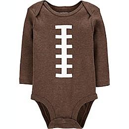 carter's® Football Long Sleeve Bodysuit in Brown