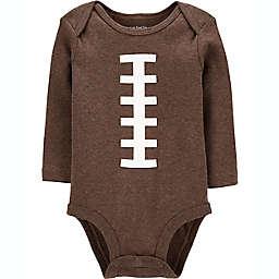 carter's® Newborn Football Long Sleeve Bodysuit in Brown