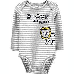 carter's® Brave Like Daddy Bodysuit in Grey