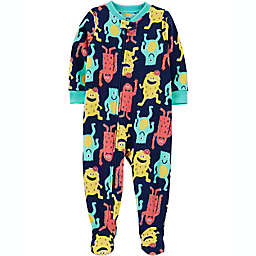 carter's® Monster Footie Pajamas in Blue