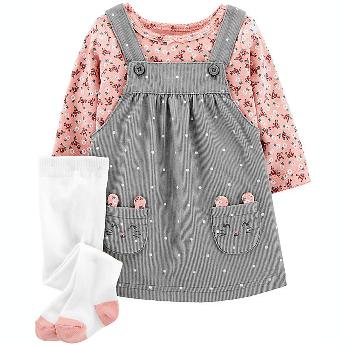 Alternate image 1 for carter's® 2-Piece Bunny Skirtall Set in Grey