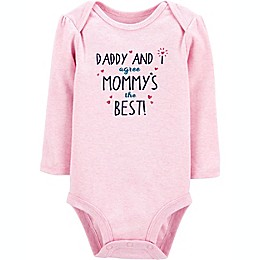 carter's® Mommy's the Best Long Sleeve Bodysuit in Pink