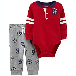 carter's® 2-Piece All Star Bodysuit and Pant Set in Burgundy