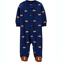 carter's® Size 0-3M Football Sleep and Play in Navy
