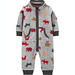 carter's® Animal Coverall in Grey
