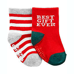 carter's® 2-Pack Christmas Socks in Red/Green