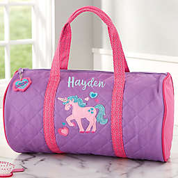 Unicorn Embroidered Duffel Bag by Stephen Joseph