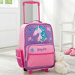 Unicorn Kids Rolling Luggage by Stephen Joseph in Pink