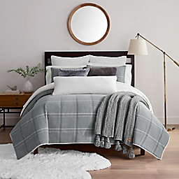 UGG® Bakersfield 3-Piece Twin Duvet Cover Set in Grey Plaid