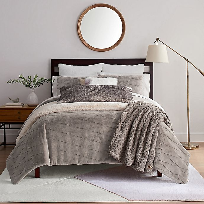 Alternate image 1 for UGG® Griffin 3-Piece Full/Queen Duvet Cover Set in Fawn